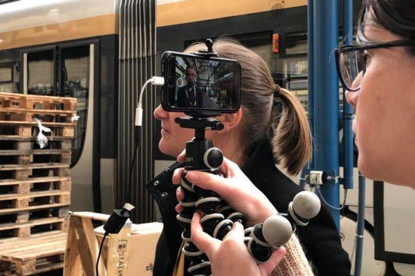 Formation de la STIB à la réalisation de vidéos pro avec un smartphone